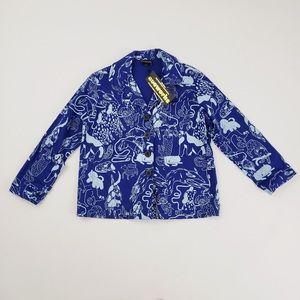 Nooworks Dogs Casual Coat Medium blue jacket